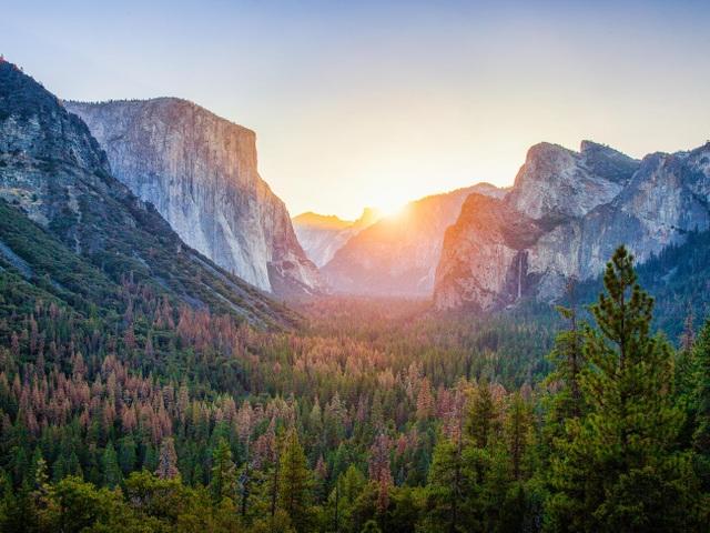 Một góc cảnh quan bên trong công viên quốc gia Yosemite