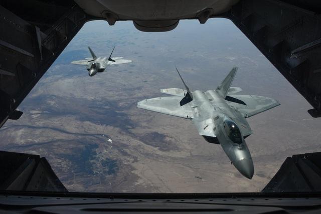 Máy bay chiến đấu F-22 của Mỹ tại Syria (Ảnh: Quân đội Mỹ)