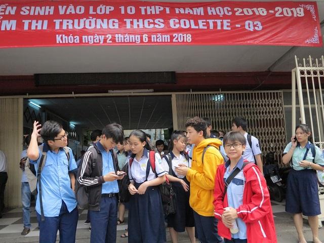 Học sinh TPHCM thi lớp 10 năm học 2018-2019