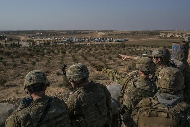 Lực lượng đặc nhiệm Mỹ tại Manbij, Syria hồi tháng 2. (Ảnh: Quân đội Mỹ)