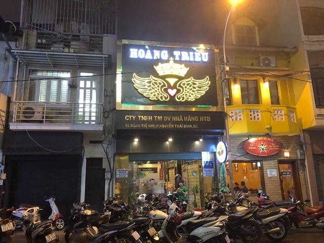 Nhà hàng Hoàng Triều bị kiểm tra hành chính.