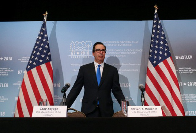 Bộ trưởng Tài chính Mỹ Steven Mnuchin. Ảnh: Reuters