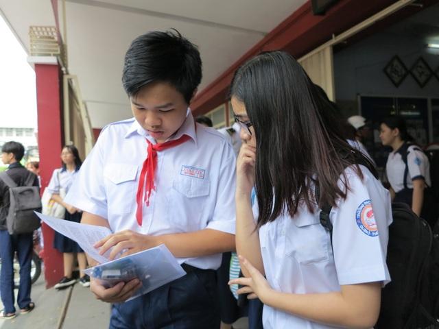 Học sinh tại TPHCM trong kỳ thi tuyển sinh lớp 10 năm nay