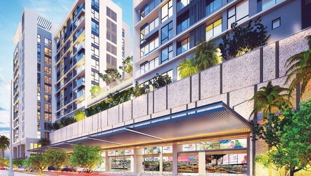 Diện tích dành cho thương mại rất lớn, thiết kế để phát triển các tầng thấp thành 1 trung tâm thương mại tạo nên giá trị thương mại rất lớn cho 2 tòa nhà ở dự án này