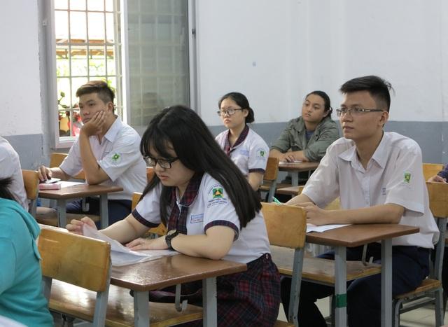 Học sinh TPHCM trong kỳ thi THPT quốc gia