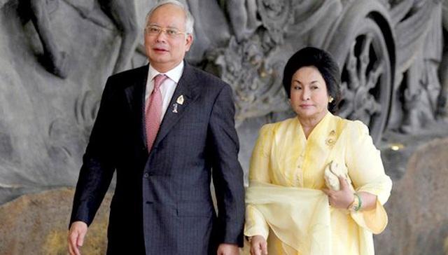 Cựu Thủ tướng Najib và phu nhân (Ảnh: Reuters)