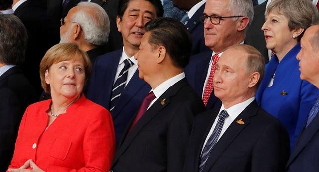 Tổng thống Putin chụp ảnh cùng các nhà lãnh đạo G20 tại Đức năm 2017 (Ảnh: Sputnik)