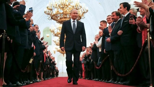 Ông Putin trong lễ nhậm chức tại Điện Kremlin hồi tháng 5 (Ảnh: Reuters)
