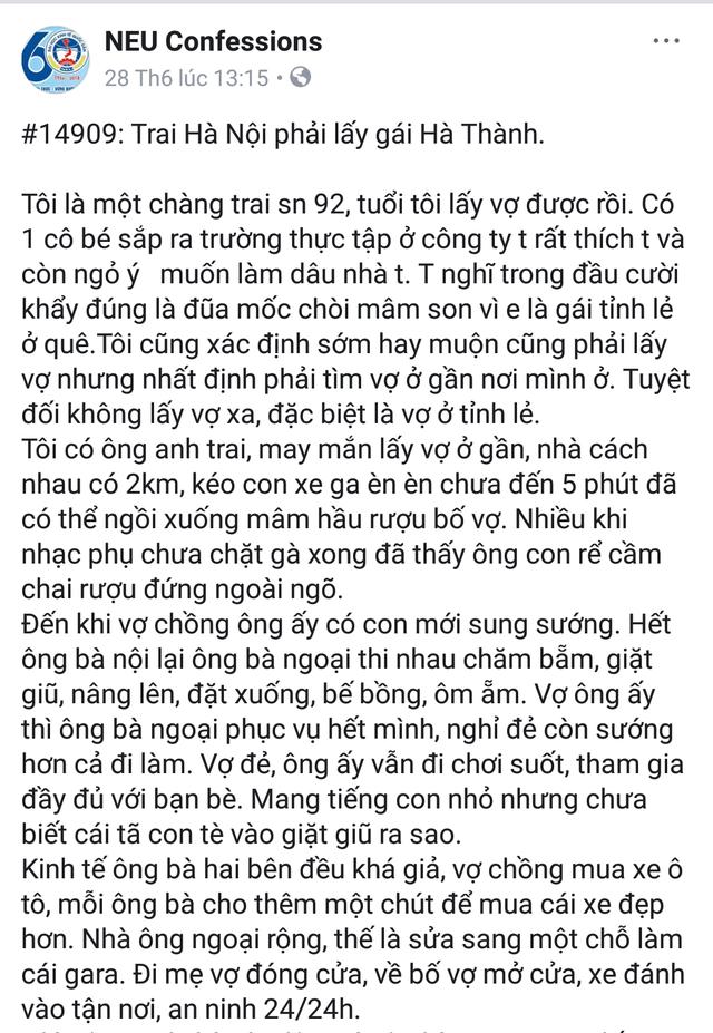 """Tranh cãi quan điểm """"con trai Hà Nội phải lấy gái Hà thành"""" - 1"""