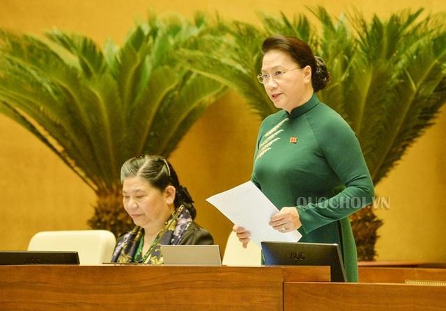 Chủ tịch Quốc hội Nguyễn Thị Kim Ngân: Nên sử dụng tên gọi cũ - trạm thu phí BOT