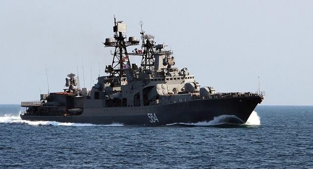 Tàu khu trục Đô đốc Tributs (Ảnh: Sputnik)