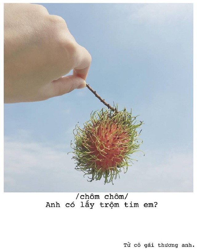 Lời tỏ tình của trái cây (ảnh: Thoa Bùi)