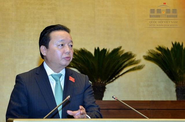 Bộ trưởng TN-MT Trần Hồng Hà là vị tư lệnh ngành thứ 2 đăng đàn trả lời chất vấn tại kỳ họp thứ 5 của Quốc hội
