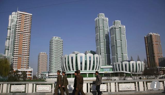 Những tòa nhà cao tầng tại thủ đô Bình Nhưỡng (Ảnh: AP)