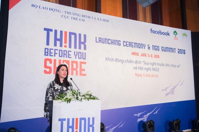 Bà Clair Deevy, Giám đốc mảng Cộng đồng khu vực Châu Á & Thái Bình Dương của Facebook.