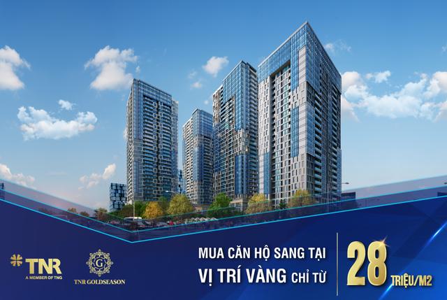 Sở hữu căn hộ cao cấp nội đô chỉ từ 28 triệu đồng/m2
