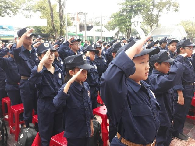 Các chiến sĩ nhí sẽ được rèn luyện trong môi trường kỷ luật của Công an nhân dân trong thời gian 4 ngày