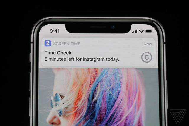 Thông báo hiện ra khi thời gian giới hạn sử dụng một ứng dụng sắp hết