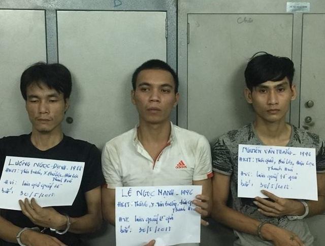 3 nghi can bị bắt giữ