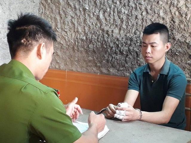 Cơ quan Công an lấy lời khai đối tượng Nguyễn Trường Giang.