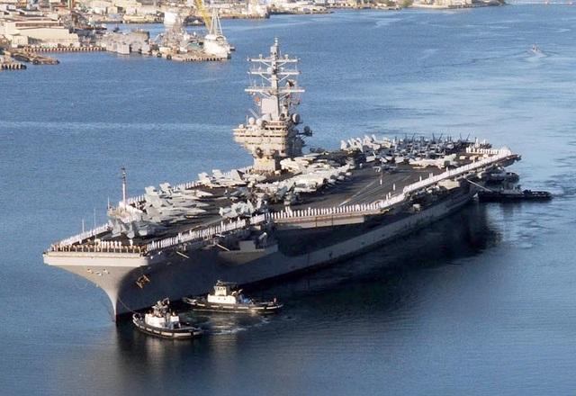 Tàu sân bay USS Ronald Reagan của Mỹ (Ảnh minh họa: Military)