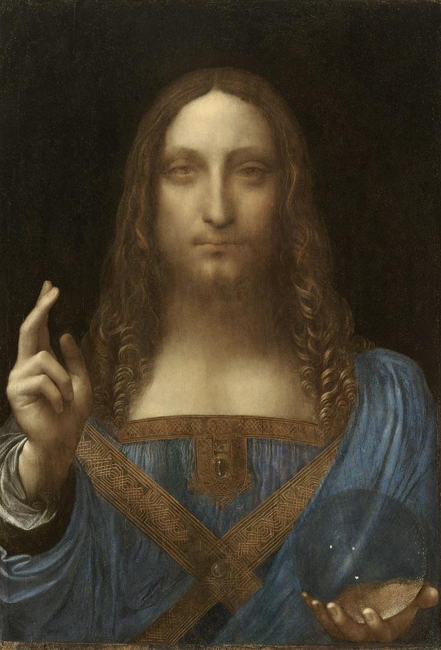 "1. Bức ""Salvator Mundi"" - danh họa người Ý Leonardo da Vinci — 450,3 triệu USD"