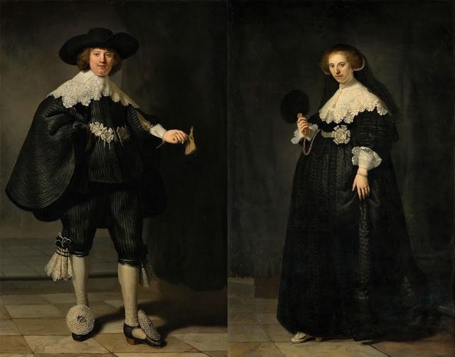"7. Bức ""Portraits of Maerten Soolmans and Oopjen Coppit"" - danh họa người Hà Lan Rembrandt — 180 triệu USD"