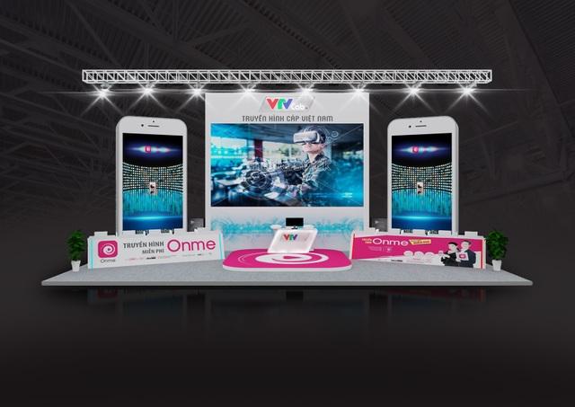 Thiết kế gian hàng VTVcab tại Telefim 2018.