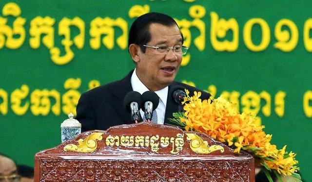 Thủ tướng Campuchia Hun Sen (Ảnh: Khmer News)