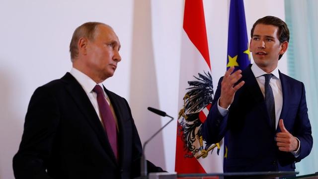 Tổng thống Putin và Thủ tướng Áo Sebastian Kurz (Ảnh: Reuters)