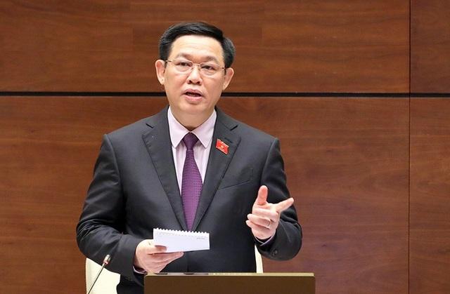 Phó Thủ tướng Vương Đình Huệ tại vị trí người trả lời chất vấn (ảnh: Như Phúc)