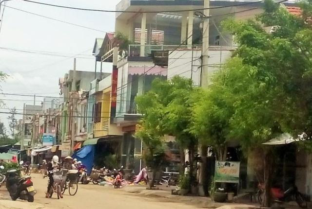Một góc khu dân cư Nam chợ Phù Mỹ (huyện Phù Mỹ, Bình Định).