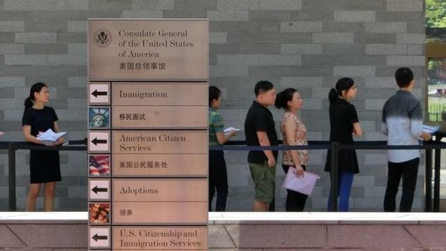 Lãnh sự quán Mỹ ở Quảng Châu (Ảnh: AFP)
