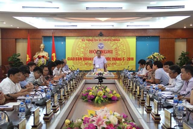 Bộ trưởng Trương Minh Tuấn phát biểu kết luận Hội nghị. Ảnh: Bộ TT&TT