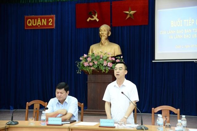 Trưởng Ban Tiếp công dân Trung ương Nguyễn Hồng Điệp gặp gỡ đại diện người dân về vụ khiếu kiện liên quan đến khu đô thị mới Thủ Thiêm