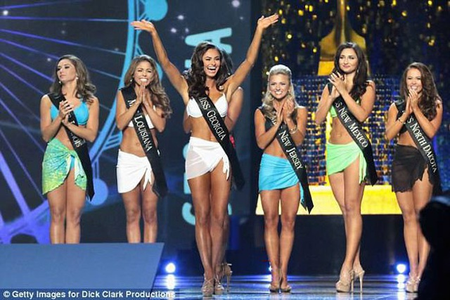 Phần thi áo tắm tại Miss America trước đây.