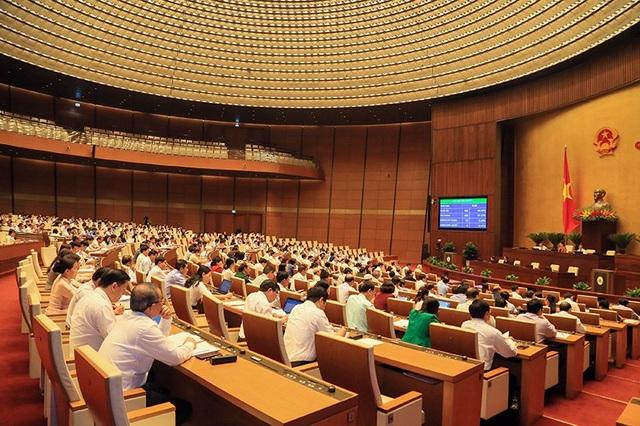 Nghị quyết về chương trình xây dựng luật, pháp lệnh năm 2019 vừa được Quốc hội thông qua. (Ảnh: Như Phúc)