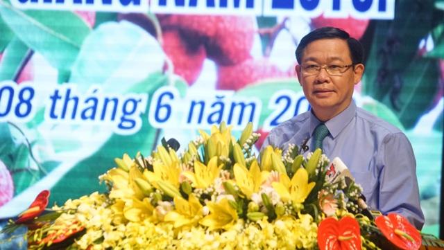 Đồng chí Vương Đình Huệ, Uỷ viên Bộ Chính trị, Phó Thủ tướng Cính phủ phát biểu tại Diễn đàn