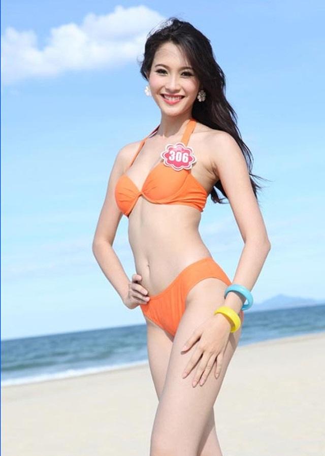 Đặng Thu Thảo đăng quang Hoa hậu Việt Nam 2012. Cô sở hữu 3 vòng là: 83-60-90 cùng chiều cao 1m73. Dễ dàng nhận thấy Thu Thảo khá gầy gò mảnh dẻ.