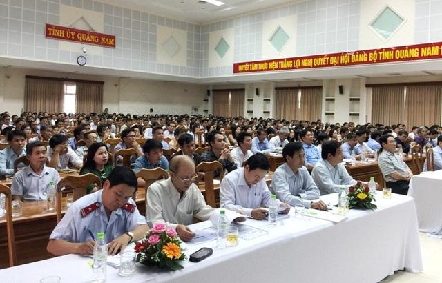 Cán bộ tập huấn công tác thi THPT Quốc gia 2018 tại địa bàn Quảng Nam