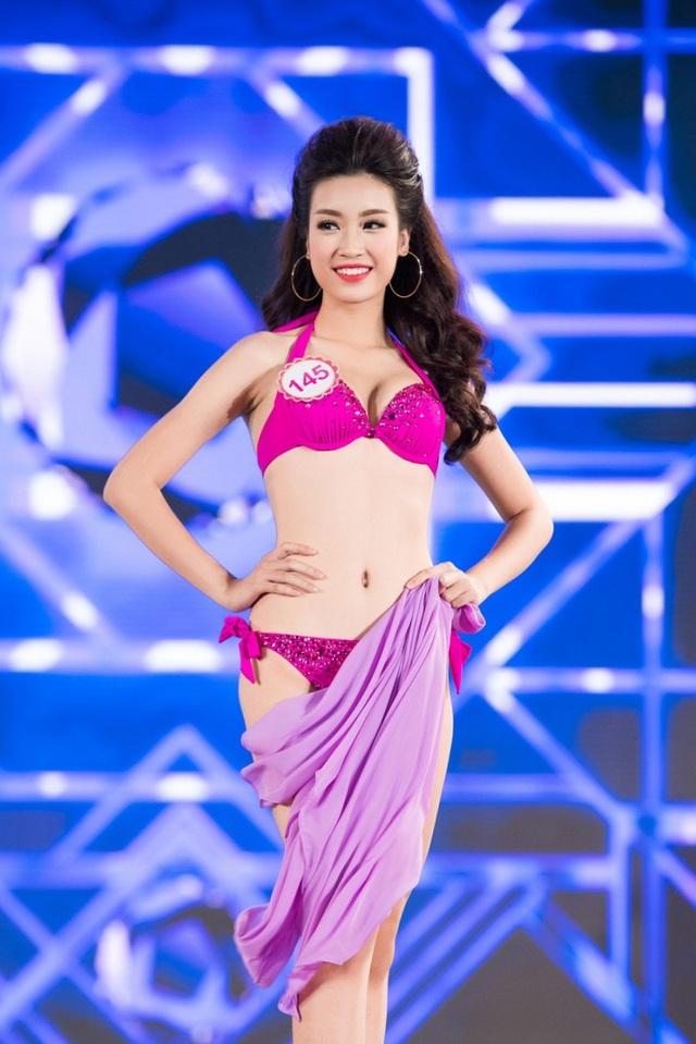 Sở hữu hình thể chuẩn, lại từng là người mẫu và tham gia một số cuộc thi nhan sắc trong đó có cuộc thi Hoa hậu Hoàn vũ Việt Nam 2015, Mỹ Linh tự tin thể hiện mình trong phần thi áo tắm của Hoa hậu Việt Nam.