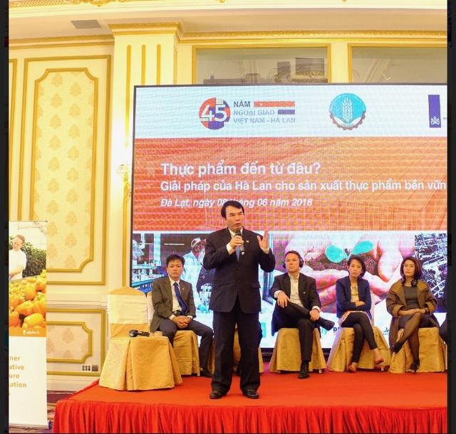 Ông Phạm S, Phó Chủ tịch UBND tỉnh Lâm Đồng phát biểu tại buổi gặp mặt