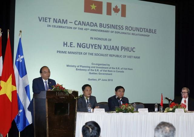 Thủ tướng Nguyễn Xuân Phúc phát biểu tại cuộc toạ đàm. Ảnh: Thống Nhất –TTXVN