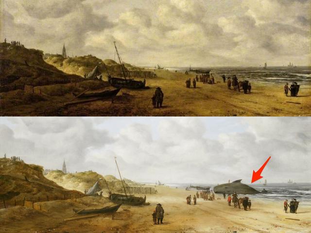 """Trước khi được phát hiện, người ta không biết những người xuất hiện trong bức """"Bãi biển Scheveningen"""" đang quan sát cái gì."""