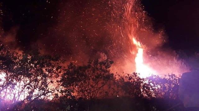 Đám cháy lan rộng trong đêm