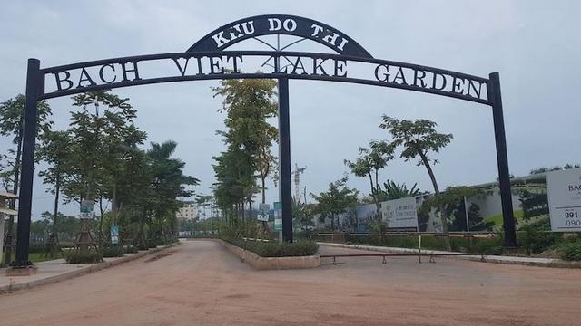 Dự án khu đô thị Bách Việt Lake Garden dính sai phạm nghiêm trọng theo kết luận của Bộ TN&MT.