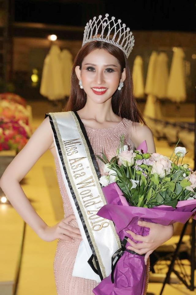 Lần đầu tiên sau 3 năm khi cuộc thi được tổ chức, Việt Nam mới có thí sinh tham gia Hoa hậu Châu Á Thế giới - Miss Asia World 2018. Và Chi Nguyễn đã bất ngờ được xướng tên cho ngôi vị cao nhất trong đêm chung kết diễn ra tại Lebanon.