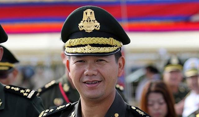 Ông Hun Manet, con trai Thủ tướng Campuchia Hun Sen (Ảnh: KT)