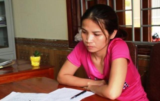 Hồ Thị Thu Hà tại cơ quan điều tra