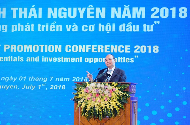 Thủ tướng phát biểu tại hội nghị xúc tiến đầu tư tỉnh Thái Nguyên